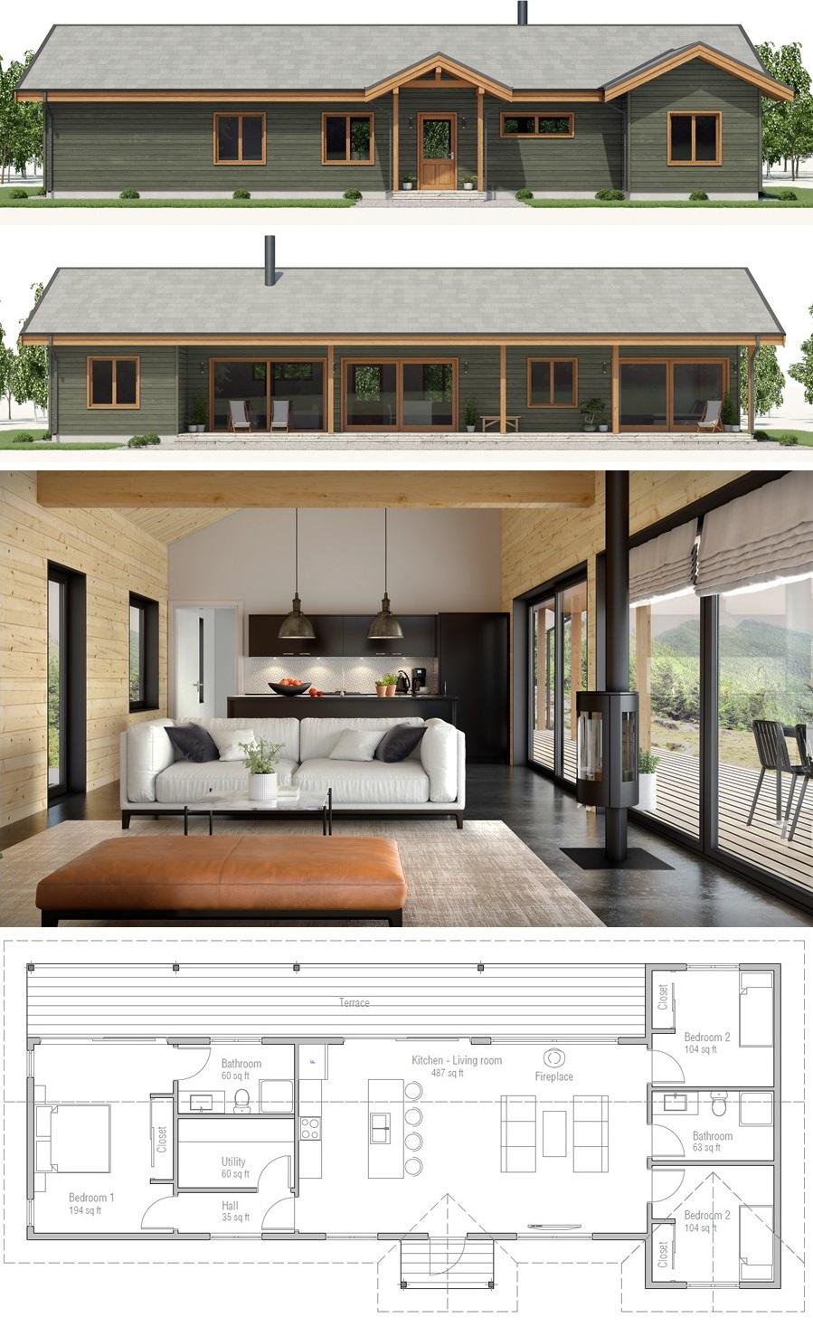 Home Plan Ch520 House Blueprints House Plans Building A House