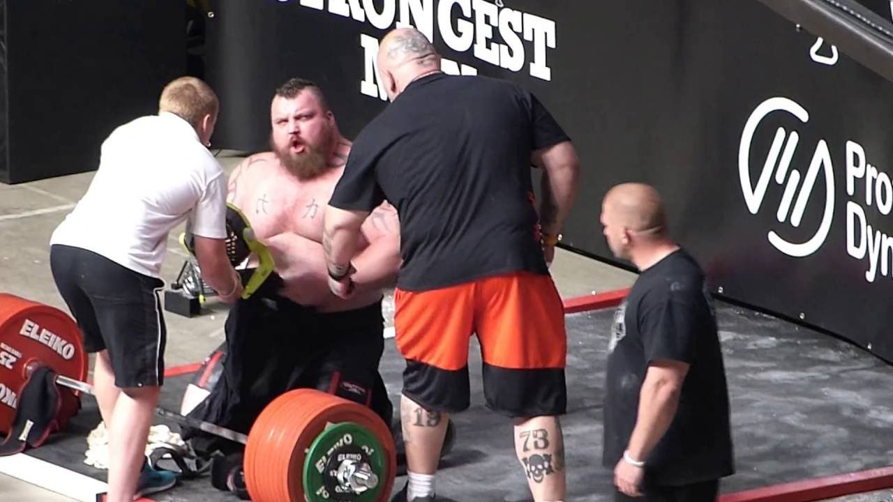 500kg World Record Deadlift Eddie The Beast Hall Eddie Hall