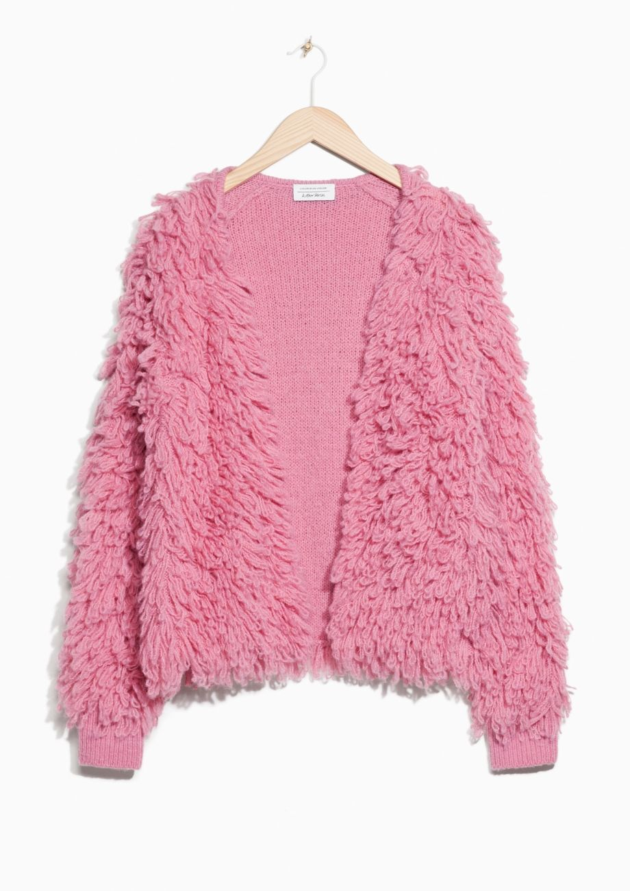6212c35d & Other Stories image 1 of Shaggy Wool-Blend Knit in Pink | ropa y ...