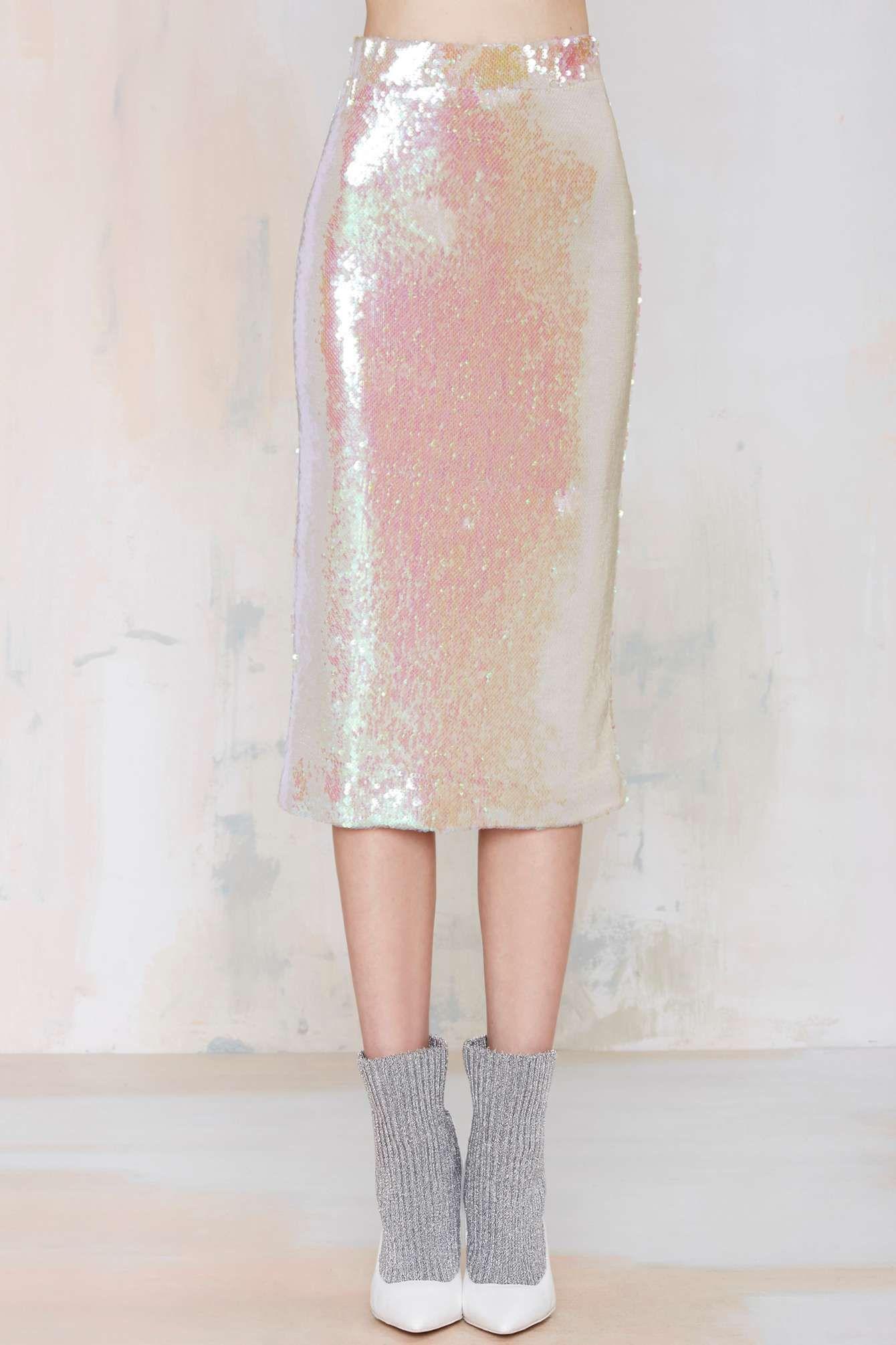 a70df0b46b Essentiel Atlantis Rising Sequin Skirt | Shop Clothes at Nasty Gal ...