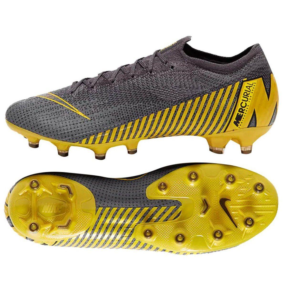 Buty Pilkarskie Nike Mercurial Vapor 12 Elite Ag Pro M Ah7379 070 Szare Szare Soccer Boots Football Shoes Sports Footwear