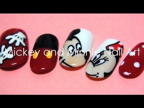 Mickey and Minnie Nail Art - Mickey And Minnie Nail Art Nail Art Pinterest Disney Nails