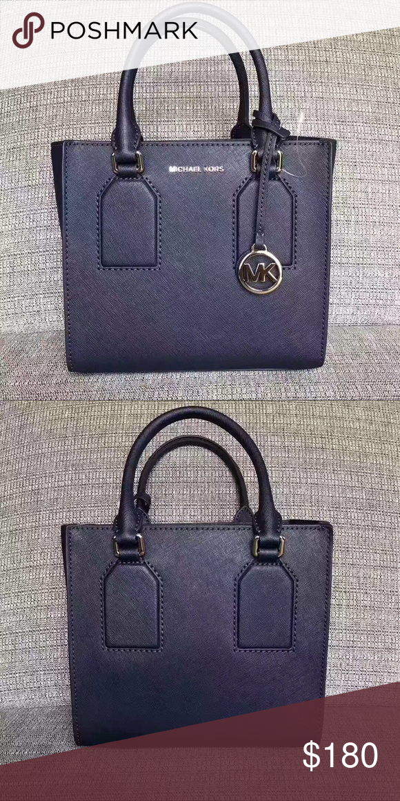 cca41c0738 Michael Kors Selby Leather Messenger Satchel Navy Brand New with  tag!MICHAEL Michael Kors saffiano