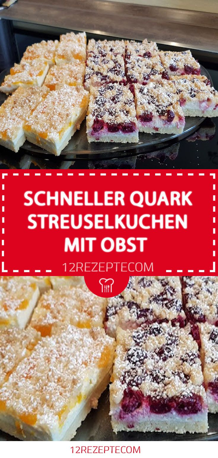 Schneller Quark Streuselkuchen Mit Obst Streuselkuchen Mit Obst Streusel Kuchen Quark Streuselkuchen