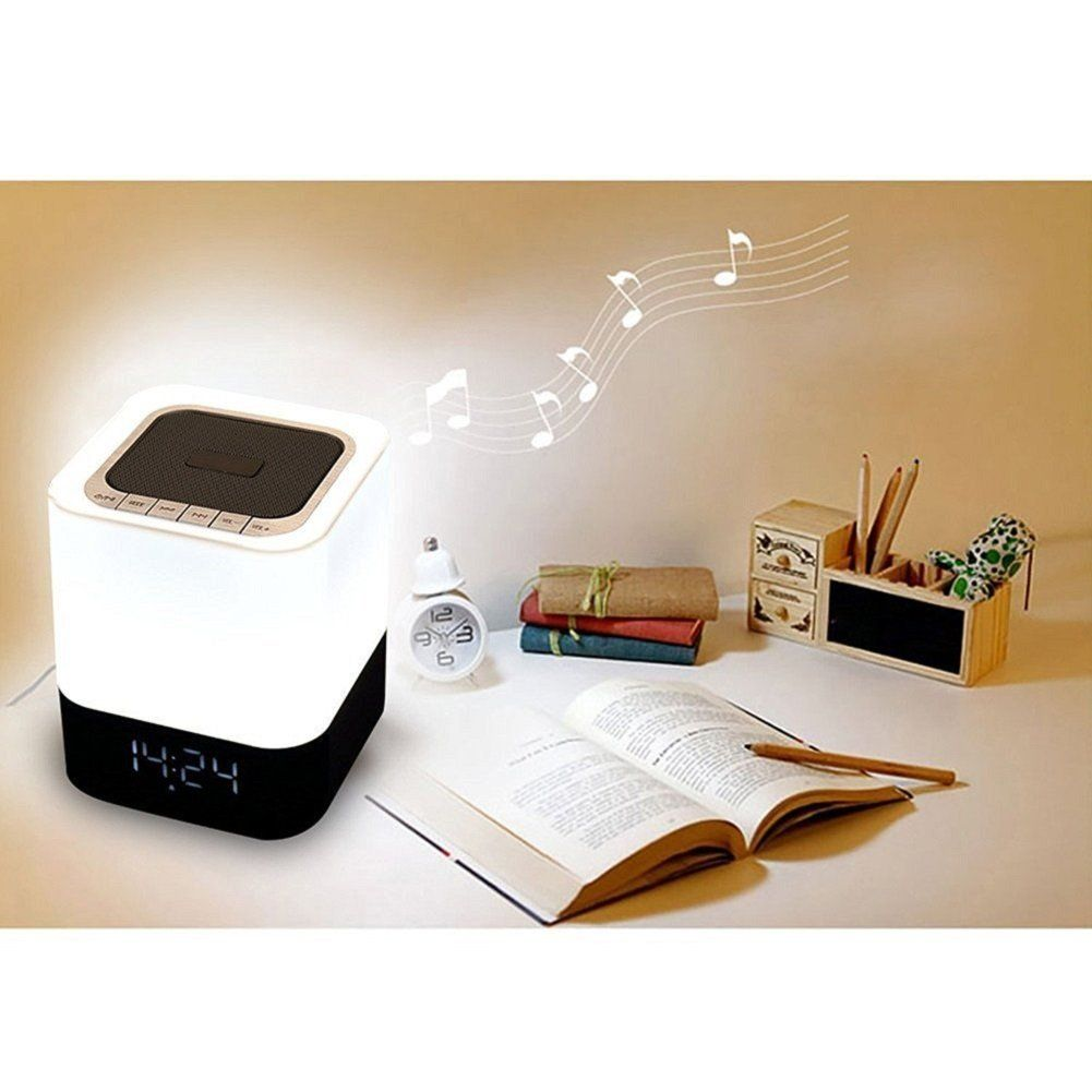 Led smart night lamp - Bluetooth Speaker With Led Night Light All In One Wireless Speakers Laptops With