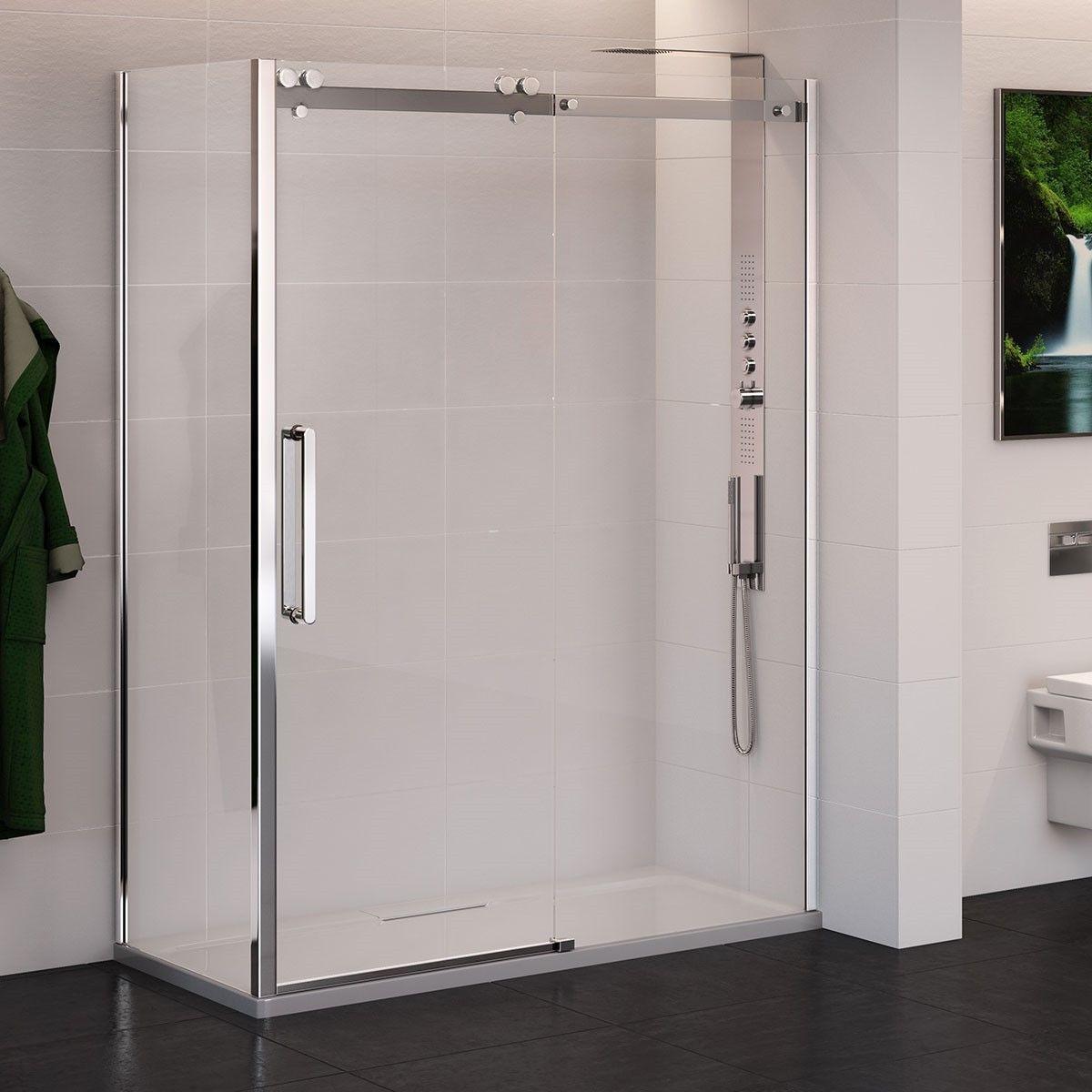 Trinity Premium 10mm 1600 X 800 Left Hand Sliding Door Enclosure Shower Enclosure Amazing Bathrooms Locker Storage