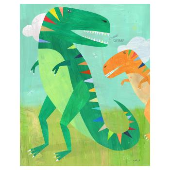 East End Prints  T-Rex A3 Framed Print - Trouva