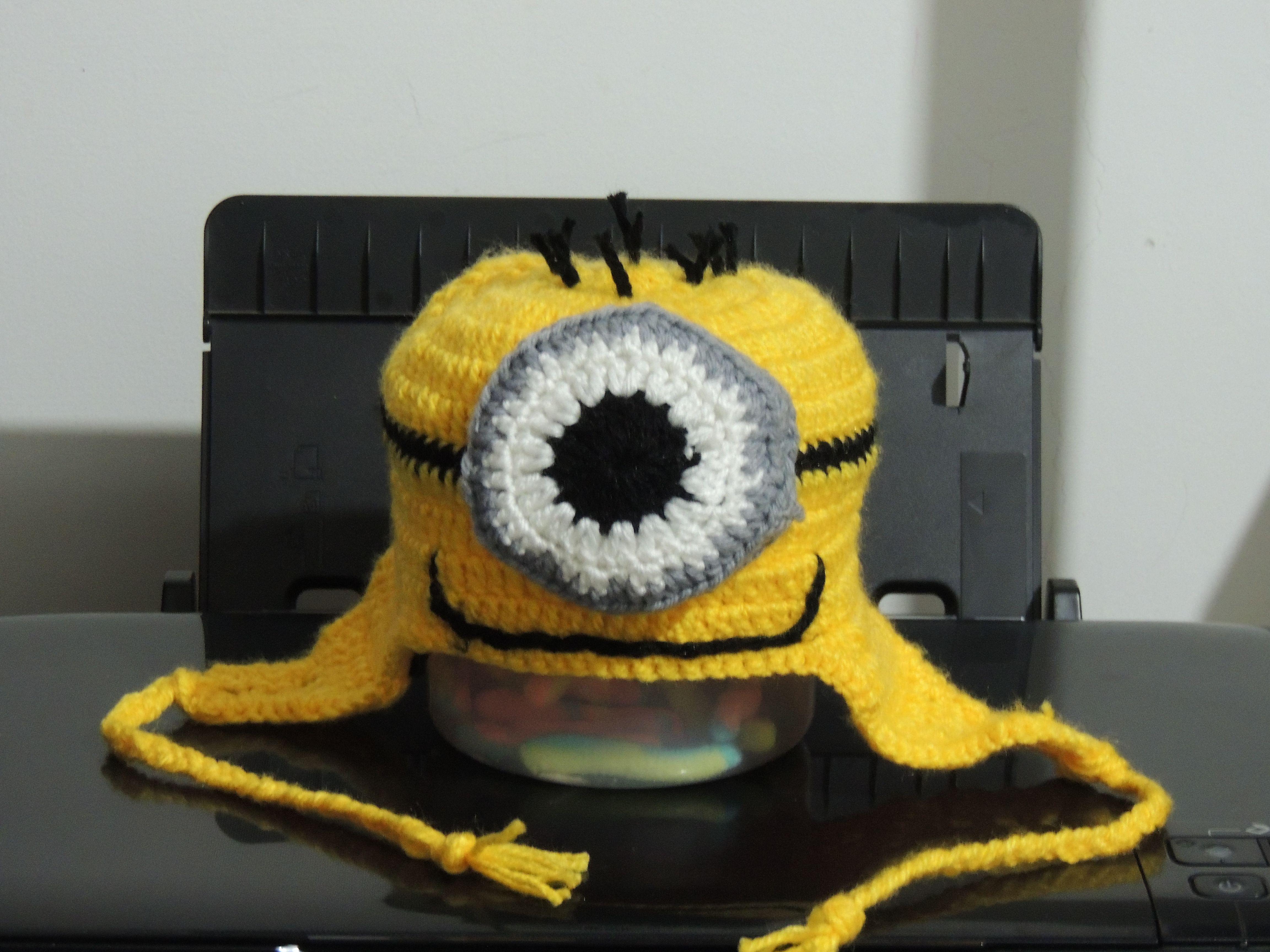 Gorro de minions tejido en crochet