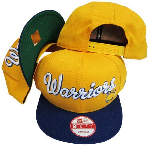 0898bb123b7 Golden State Warriors Yellow Blue Two Tone Plastic Snapback Adjustable  Plastic Snap Back Hat