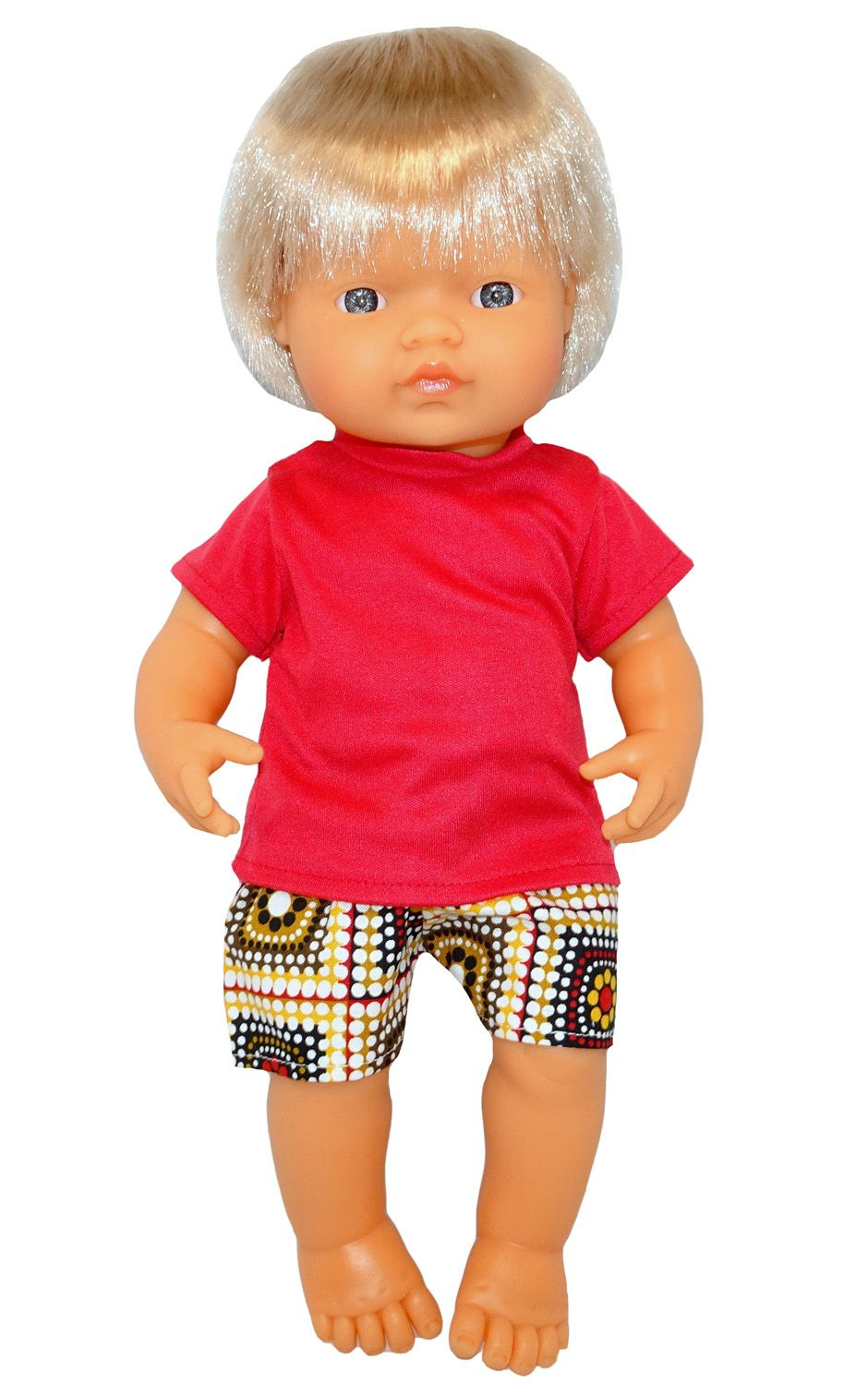Shorts & Tshirt Red (s) Girl doll clothes, Simple