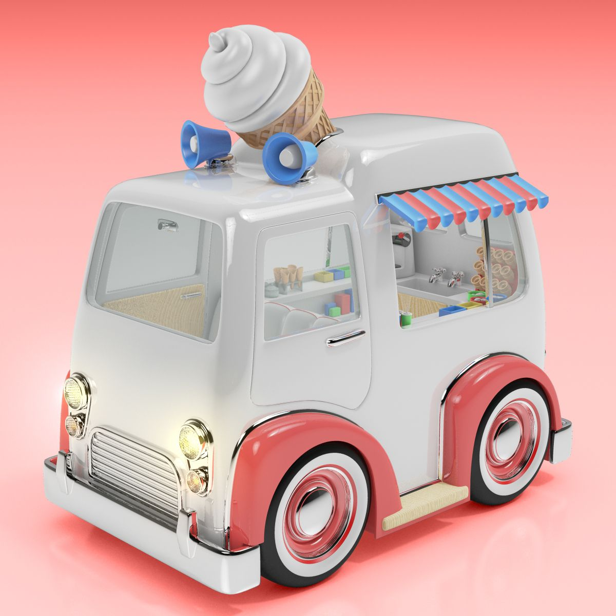 "check out this @behance project: ""cartoon cars - 3d modelled in maya"