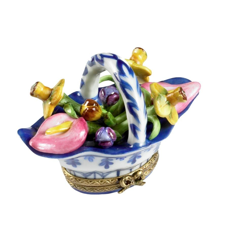 Lilies & Daffodils Basket Limoges Box | Collectable Boxes | Women's Gifts | Gift Ideas | ScullyandScully.com
