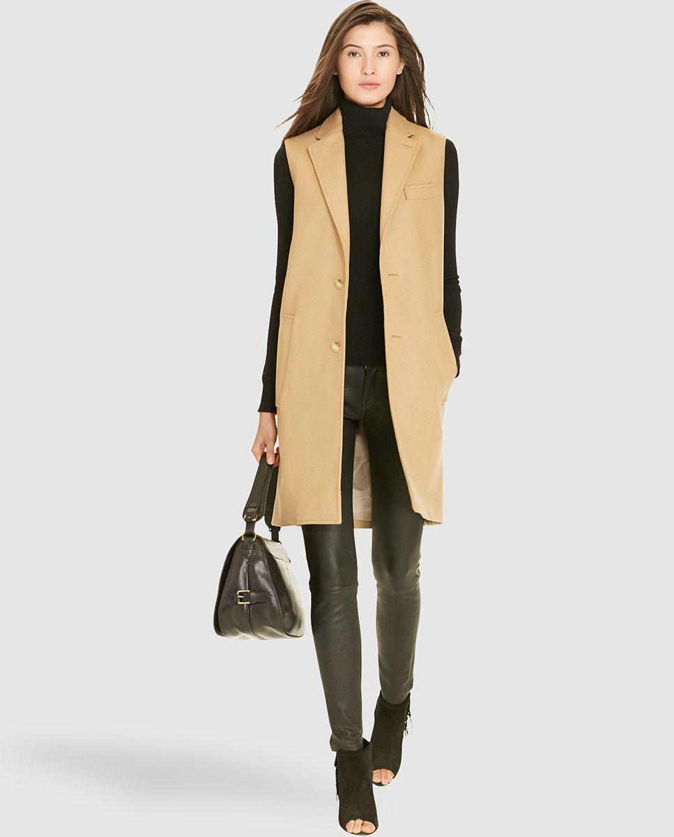 Chaleco largo de mujer Polo Ralph Lauren en beige  c1629c8c052e