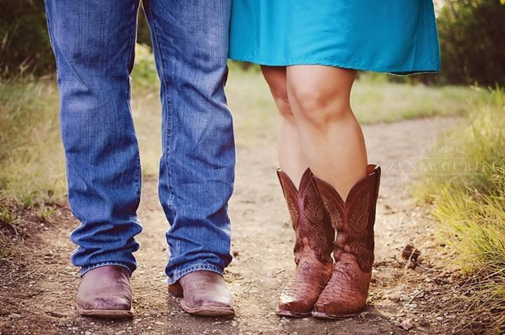 Cowboy boots-Engagement photography-Me & you in love - country Outdoor photo