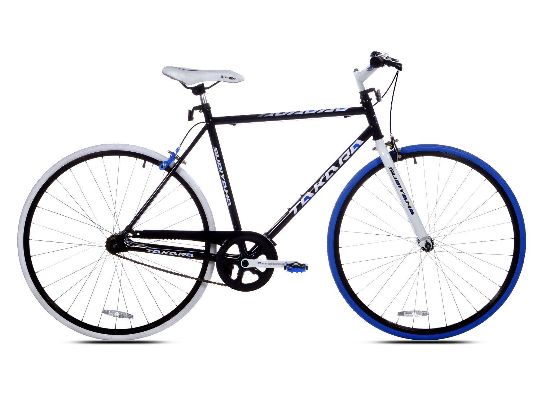 Amazon.com : Takara Sugiyama Flat Bar Fixie Bike (700c Wheels, 54cm ...