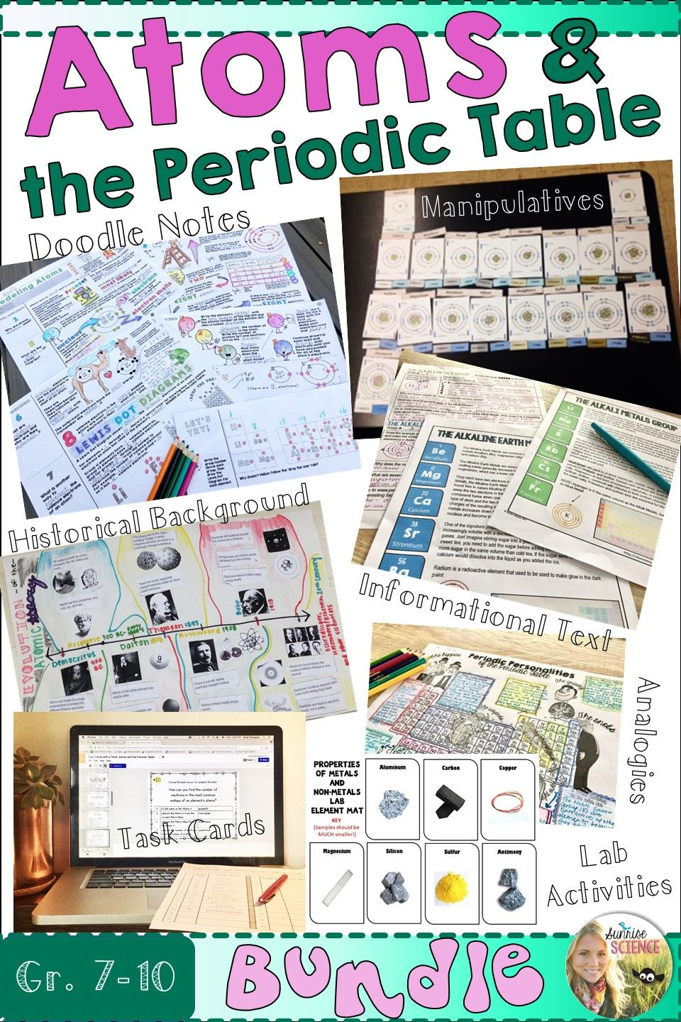 Atoms and the periodic table bundle periodic table learning reach all of your students learning styles with this dynamic and content rich study urtaz Gallery