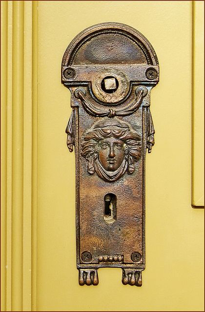neoclassical palace door lock hungary
