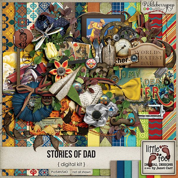 Stories Of Dad Digital Kit By Janet Carr