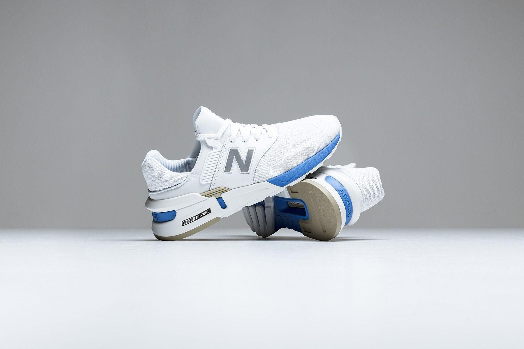 "New Balance 997 Sport ""White/Blue"" Street Sneakers New"
