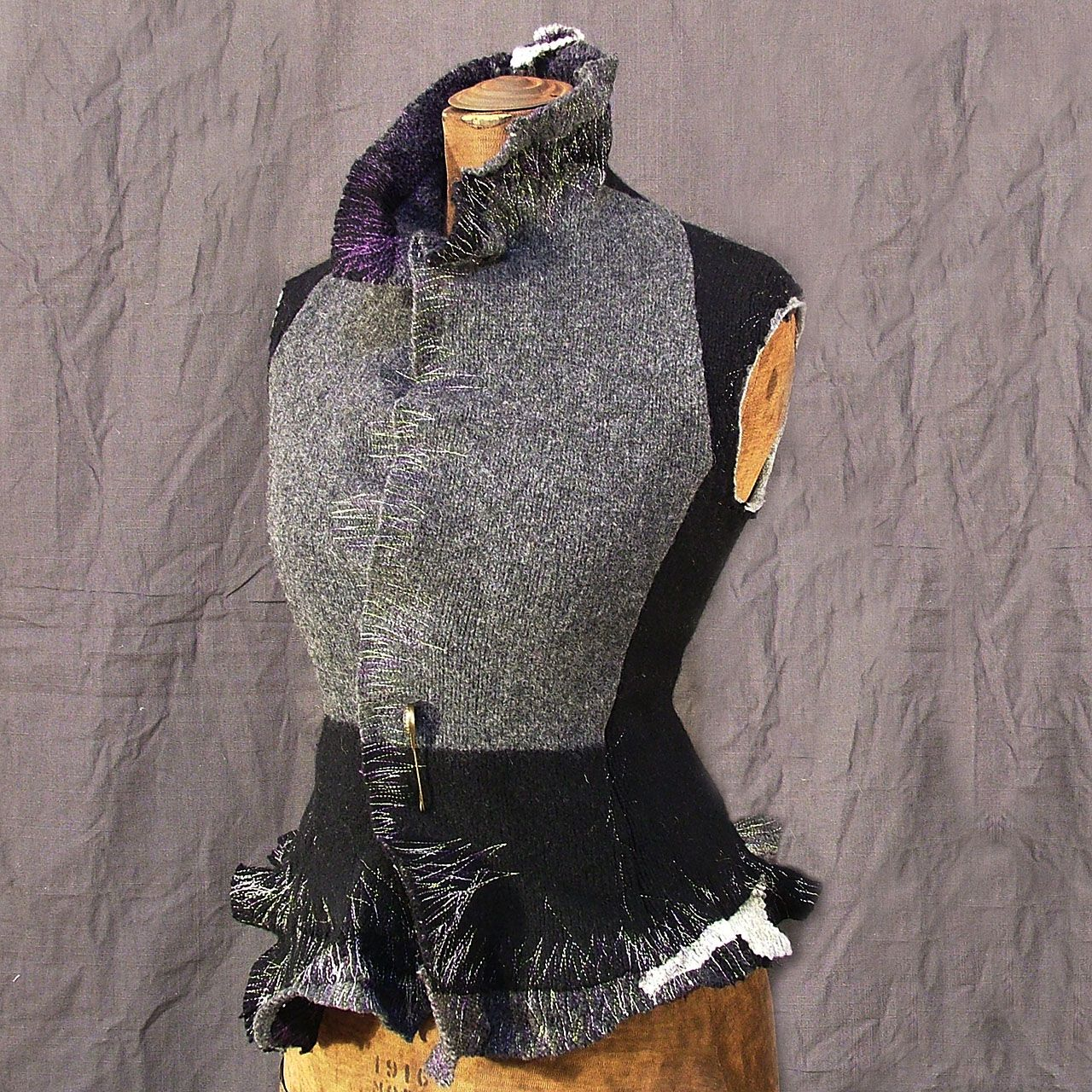 Charcoal Vest with Star