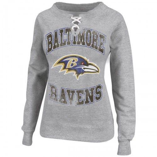 NFL Team Apparel Ravens Boys Gray Crew Neck T-Shirt