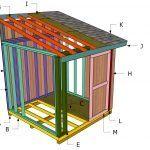 4x8 Firewood Storage Shed Free Plans