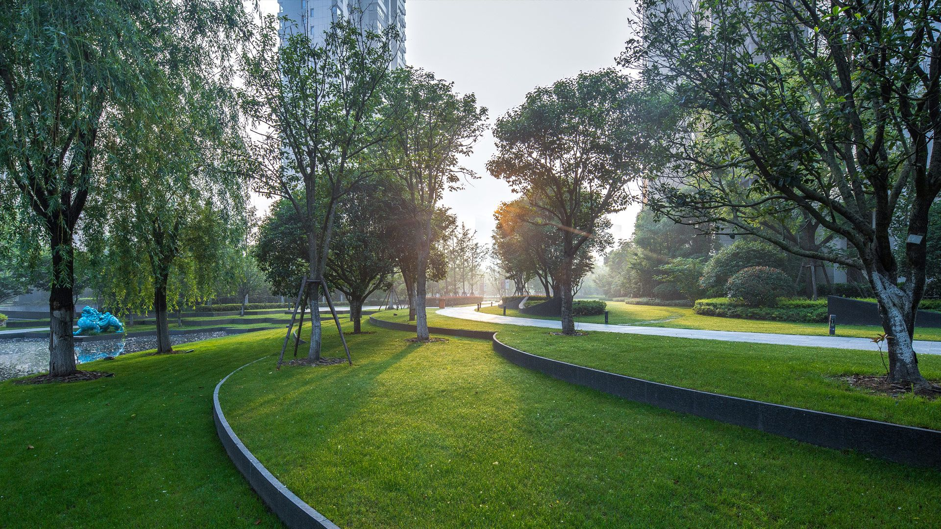 The Apartment Complex Is Set On A Completely Flat Plain To The East Of The Yangtze River Yet On A S Landscape Architecture Landscape Design Landscape Features