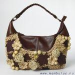 Мобильный LiveInternet Вязаные сумки с кожей | Марриэтта - Вдохновлялочка Марриэтты |