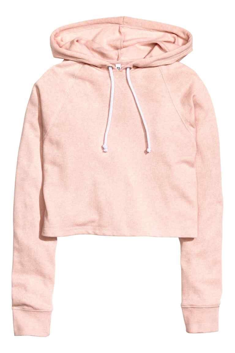 607590104ac Cropped hooded top - Powder pink - Ladies