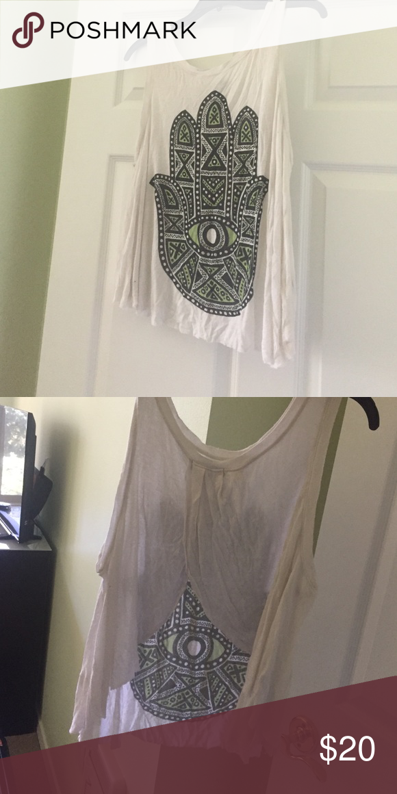 UO Hamsa Tank Open back, really beautiful and wonderful condition! Urban Outfitters Tops Tank Tops