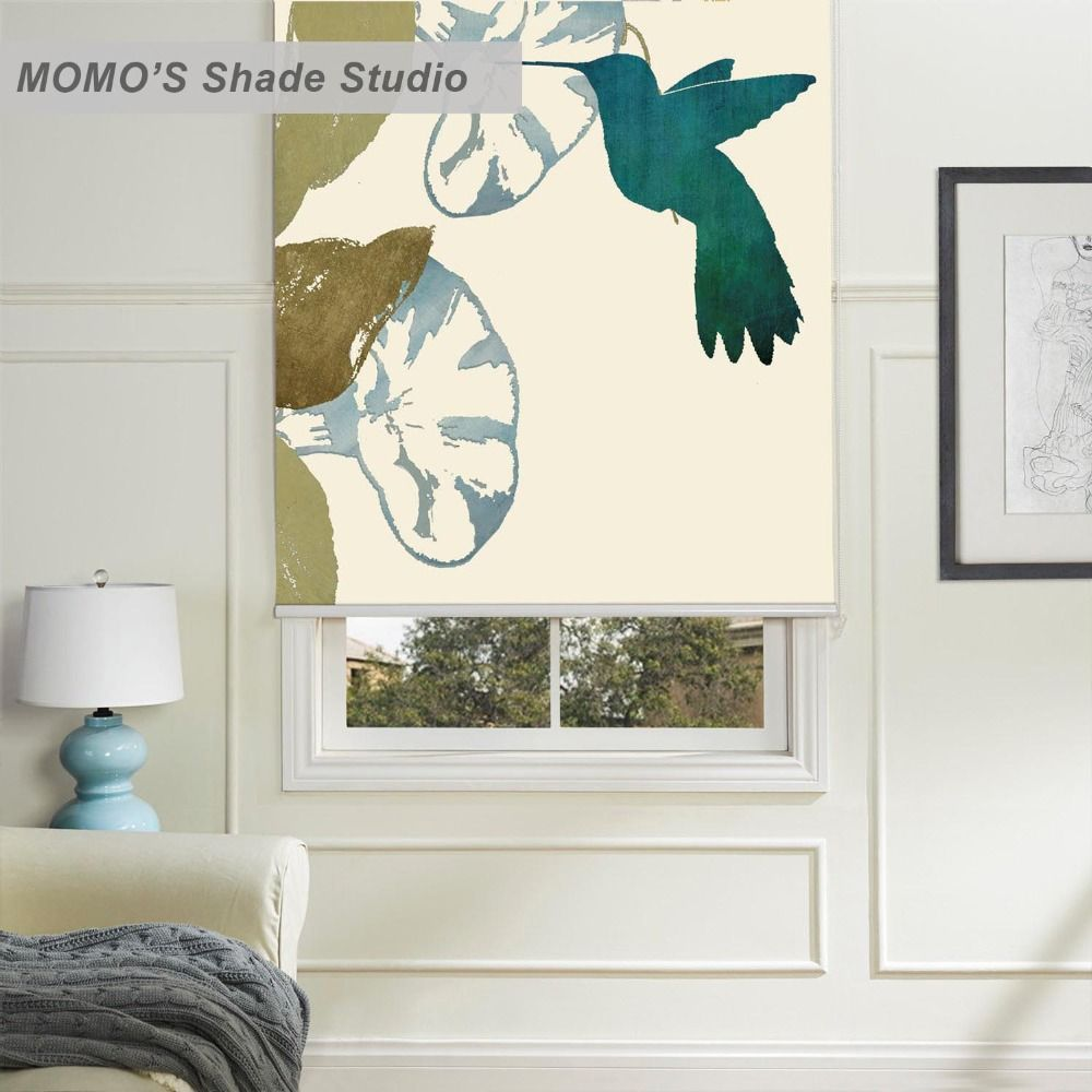 MOMO Painting Bird Window Curtains Roller Shades Blinds ...