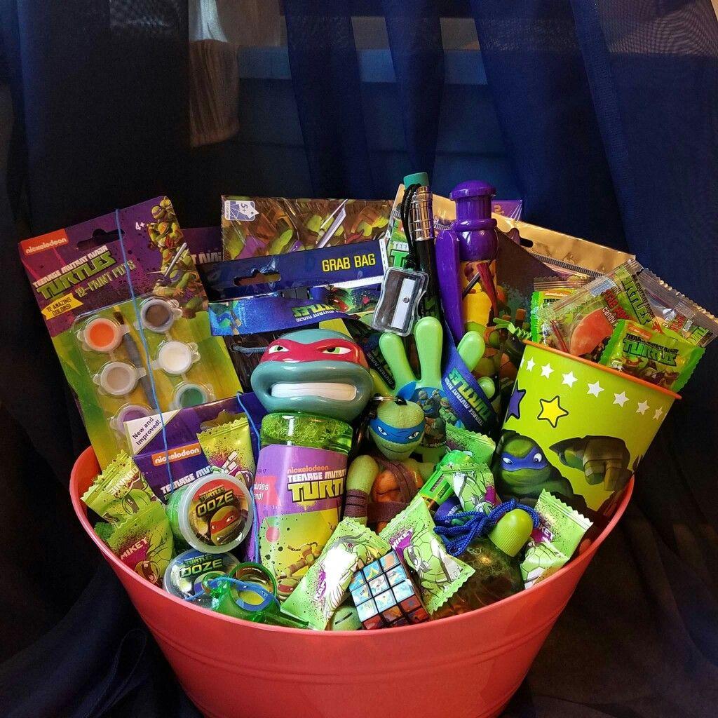 Ninja Turtles Gift Basket Www.conniescreations.storenvy