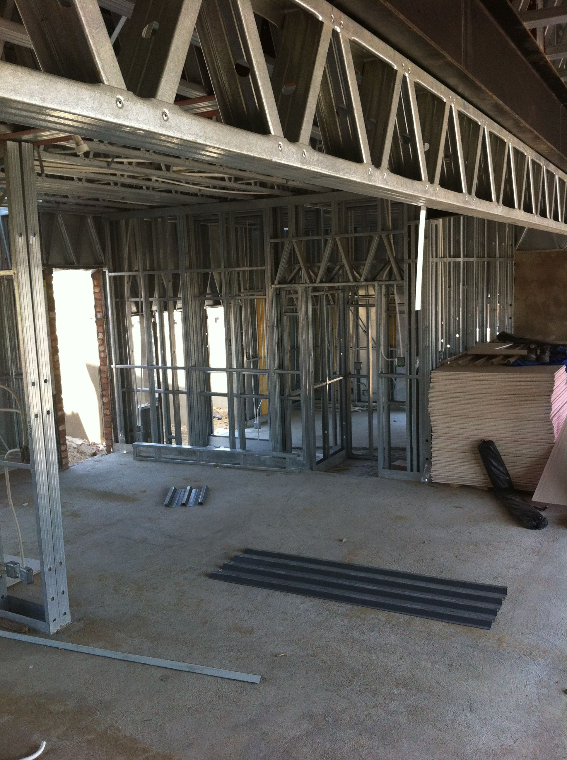 Steel Frame House - Dining Room and Man Cave (16/10/12) | STEEL ...