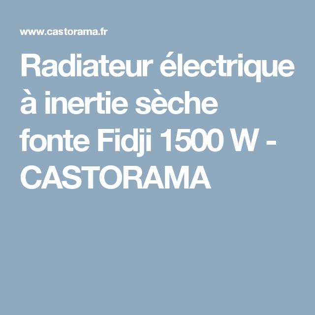 radiateur lectrique inertie s che fonte fidji 1500 w. Black Bedroom Furniture Sets. Home Design Ideas