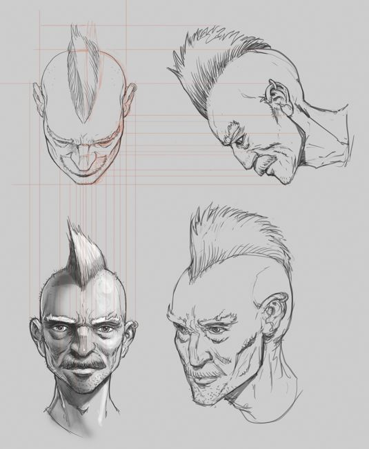 How to draw portrait from different angles