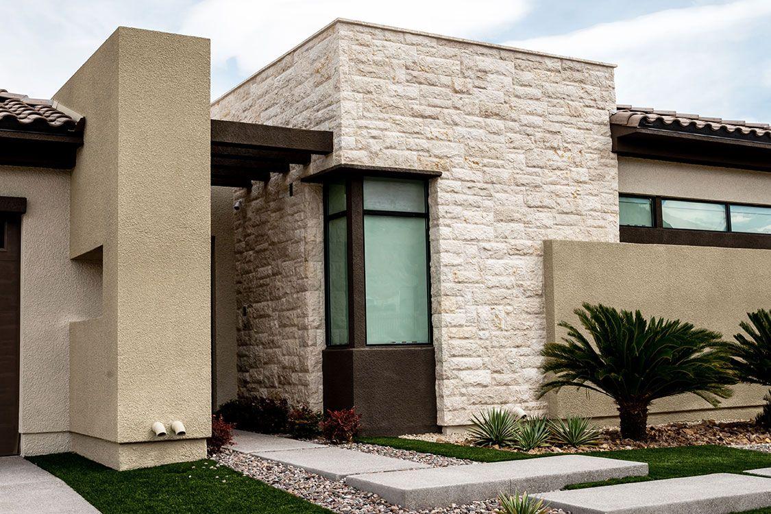 Achieved With Mocha Almond Splitface Naturalstoneveneer Lurury Naturalstone Architecture Architecturepho Natural Stone Veneer Stone Veneer Natural Stones