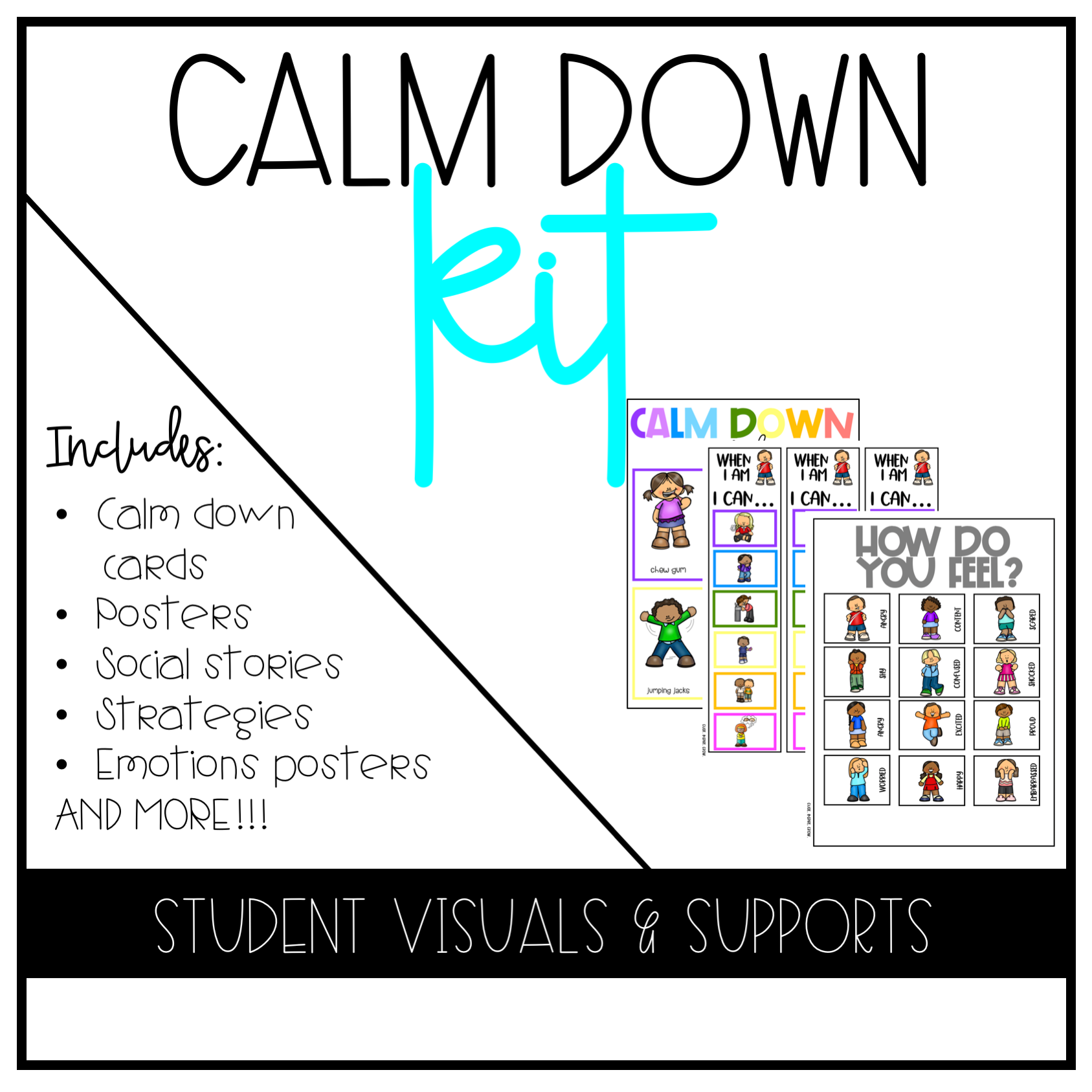 Calm Down Corners Or Kits Will Help You Teach Your