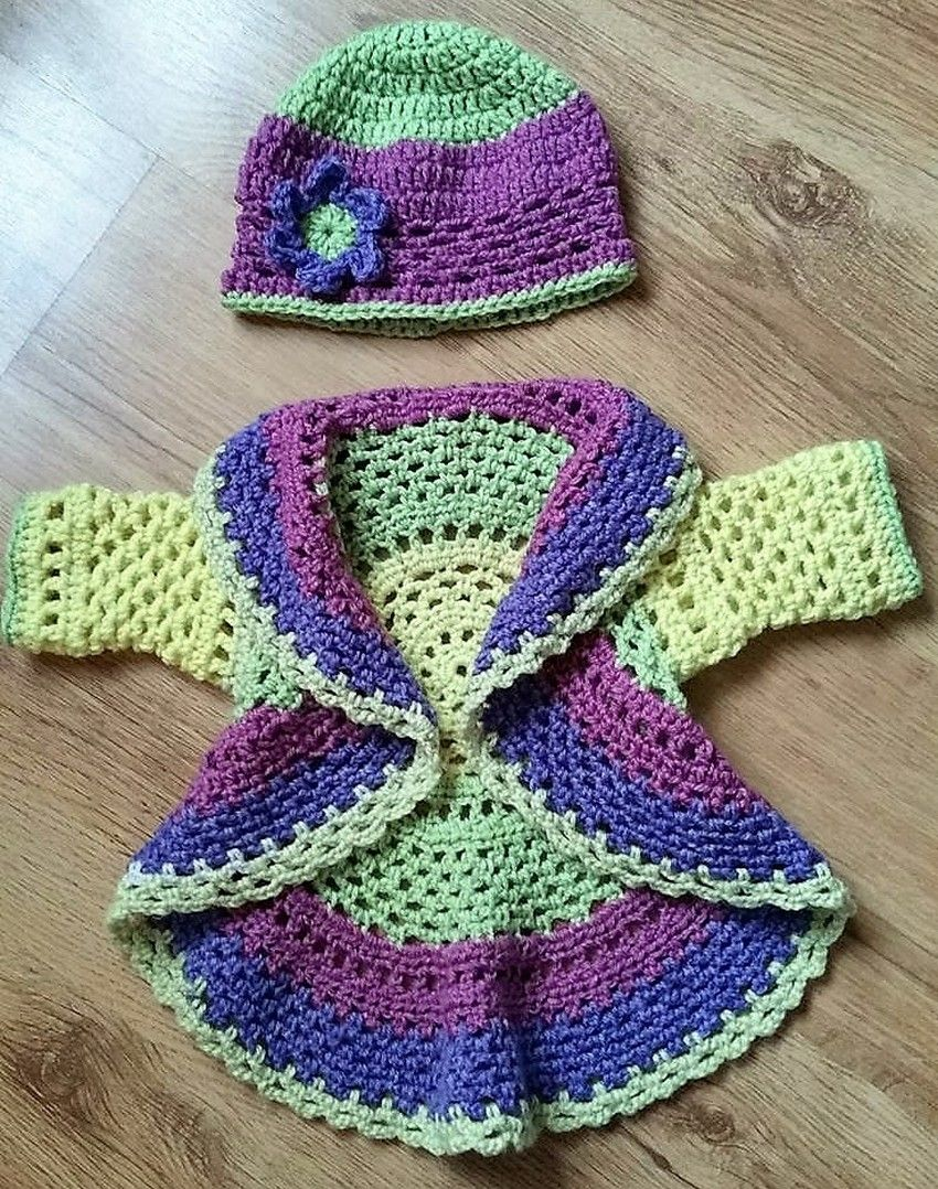 2ba5a0c6adda0 40 Eye Catching Crochet Baby Dresses & Sets | Crochet Baby | Crochet ...