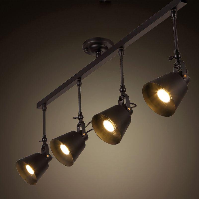 Wholesale Industrial Retro Loft Track Light Creative Loft Ceiling Light For Cafe Bar E27 Led