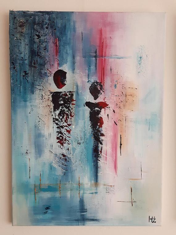 Apparence (Appearance) 50 x 70 cm en 2020 | Tableau contemporain abstrait,  Peintures art abstrait, Toile abstraite