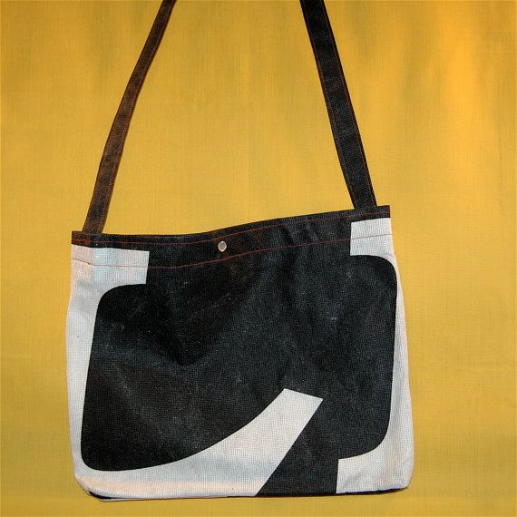 upcycled musette bag via Etsy