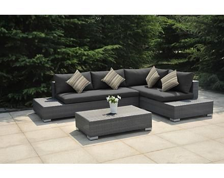 La Z Boy Sectional Seating Couch Charcoal Grey Sectional Coffee Table Outdoor Living Backyard Plan