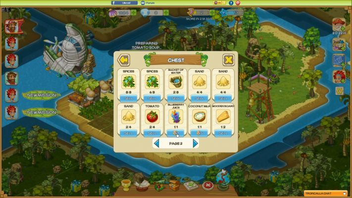 Tropicalla Is A Free To Play Browser Based Bb Tropical Island Management Multiplayer Online Game Mmo Games Online Multiplayer Games Games