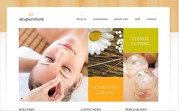 Acupuncture Medical Facebook HTML CMS Templates by Delta ...