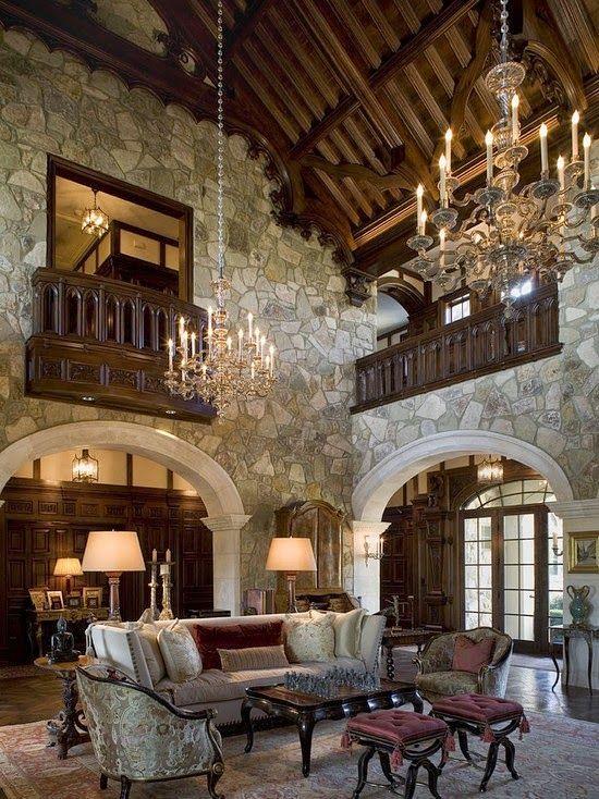 20 ideas de decoraci n de salas r sticas en fotos sala - Decoracion de casas rusticas interiores ...