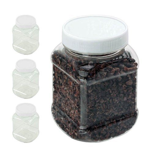 3pc Clear Plastic Spice Jar Kitchen Storage Set 1 1 4 Cup 300ml Screw On Lids By Ki Jars 1 79 Spice Jars Spice Bottles Spices