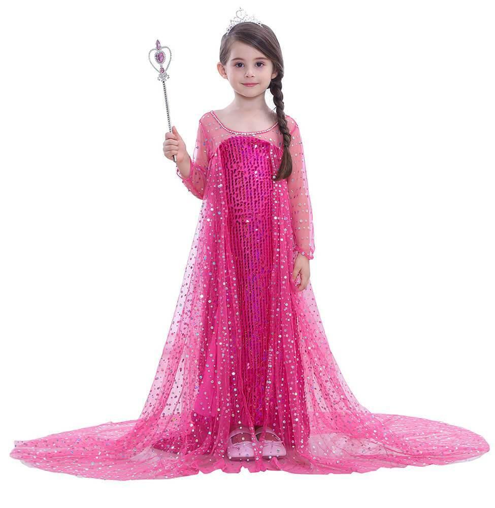 89d6bdfc9dc Girls Pink Frozen Elsa Dress kid Party Costume in 2019 | Kid Girls ...