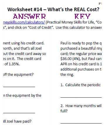 Worksheet answer key for what is the real cost homeschool get a glimpse of 7 sisters financial literacy from a christian perspective with this useful worksheet and answer key worksheet answer key for what is the fandeluxe Choice Image