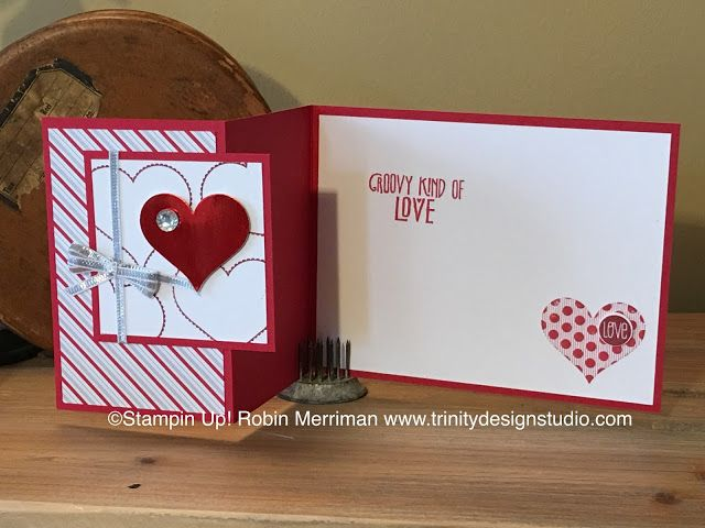 Groovy Love Z Fold Card Valentines Cards Hand Crafted Cards Cards Handmade