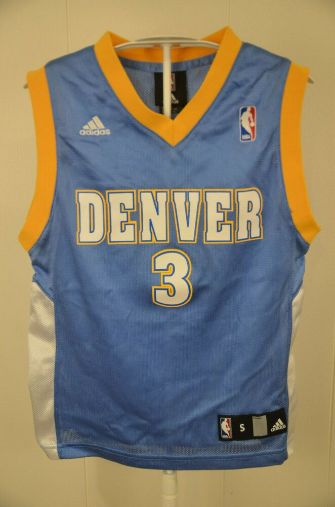 90d36893687 Adidas Denver Nuggets Jersey #3 Allen Iverson NBA Kids Youth Small 8 Powder  Blue #adidas #DenverNuggets